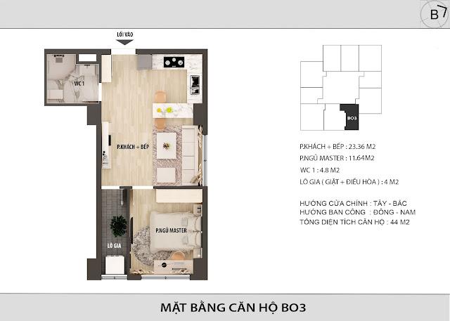 Chi tiết căn hộ B03