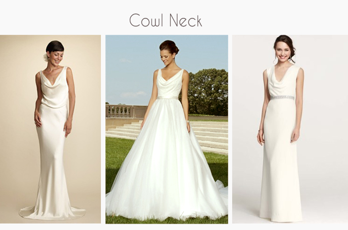 Cowl Neck Wedding dresses and gowns