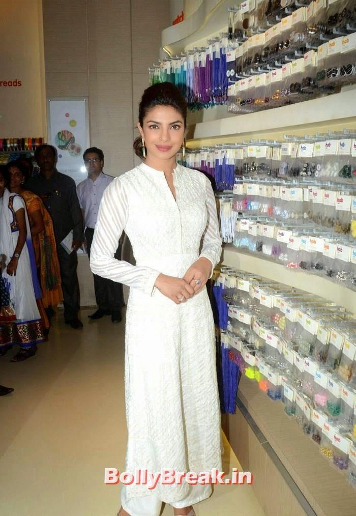 Priyanka Chopra, Priyanka Chopra PIcs in White long Salwaar Kameez Suit