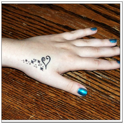 Cute And Stylish Small Hand Tattoos For Girls 2012