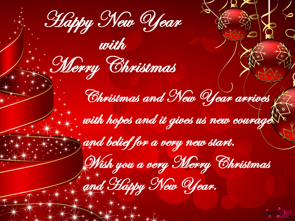 Poetry And Worldwide Wishes Happy New Year With Merry Christmas