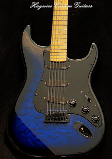 Image result for a Custom Blue Haywire Custom Guitars Active pickup guitar player friendly