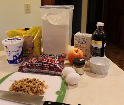 Cran-apple muffin ingredients