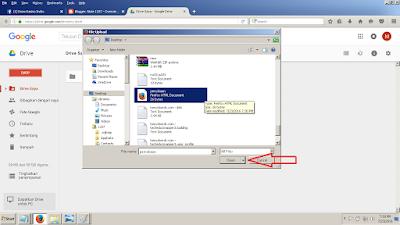 memilih file dan klik save