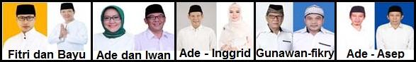 Lima pasang calon Bupati dan wakil Bupati Kabupaten Bogor 2018