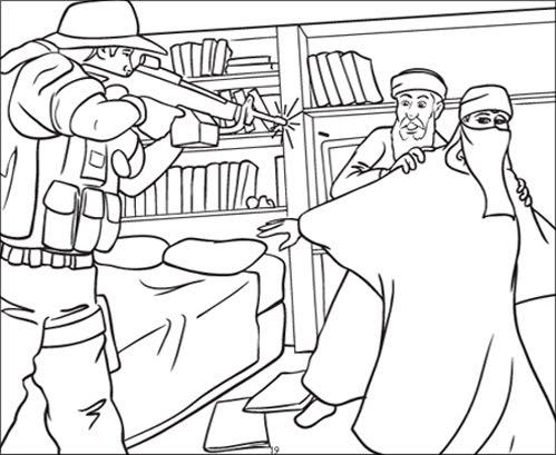 Gay Bomb Nazi Castle: 9/11 coloring book