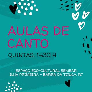 Quintas, 14:30h: Aulas de Canto