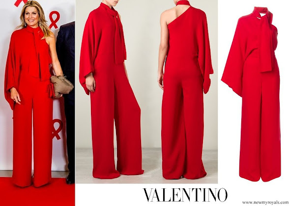 Queen Maxima wore VALENTINO One-Shoulder Jumpsuit