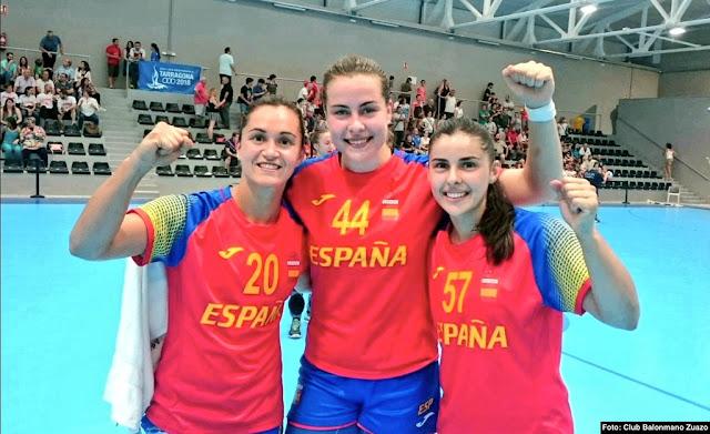 3Ainhoa Hernández, Amaia González de Garibay y Paula Valdivia oro en los Juegos del Mediterráneo