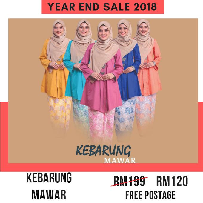 Year End Sale 2018 ~ Kebarung Mawar