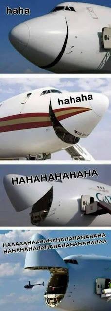 Así se ríen los aviones