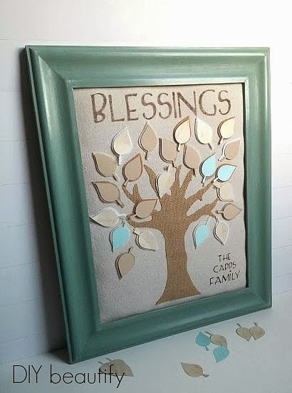 DIY Family Tree Blessings Art www.diybeautify.com