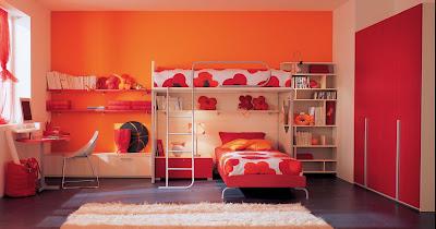 warm-interior-bedroom-in-orange