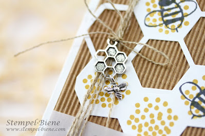 Geburtstagskarte Bienen, Geburtstagskarte Imker, Bienenkarte, Stampin Up Thinlits Bienenstock, Stampin up Geburtstagsgrüße für alle, Stampin Up Katalog 2015, Stampin Up bestellen, Stempel-biene