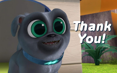 puppy dog pals thank you cards