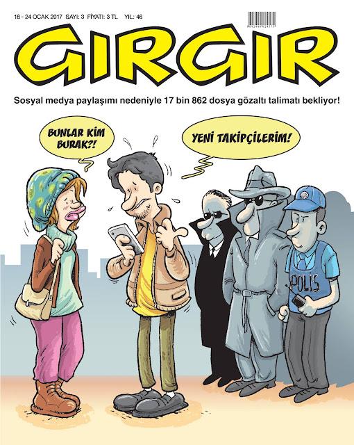 Gırgır Dergisi | 18-24 Ocak 2017 Kapak Karikatürü