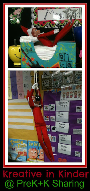 photo of: Elf on the Shelf Fun at PreK+K Sharing