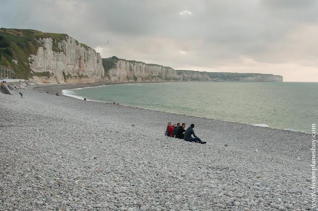 Playa Fécamp viaje Normandía paisajes turismo
