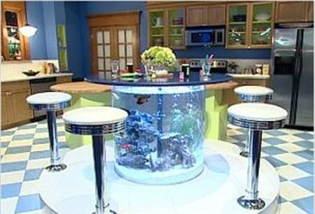 Kitchen Island Fish Tank no room for an aquarium? think again. 20 unusual places in your