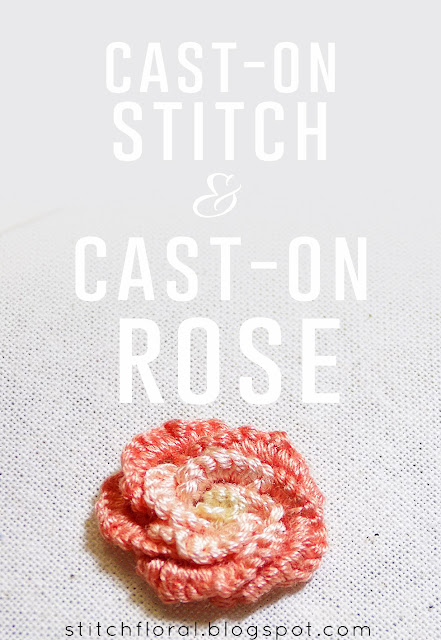 Cast-on stitch & cast-on stitch rose tutorial