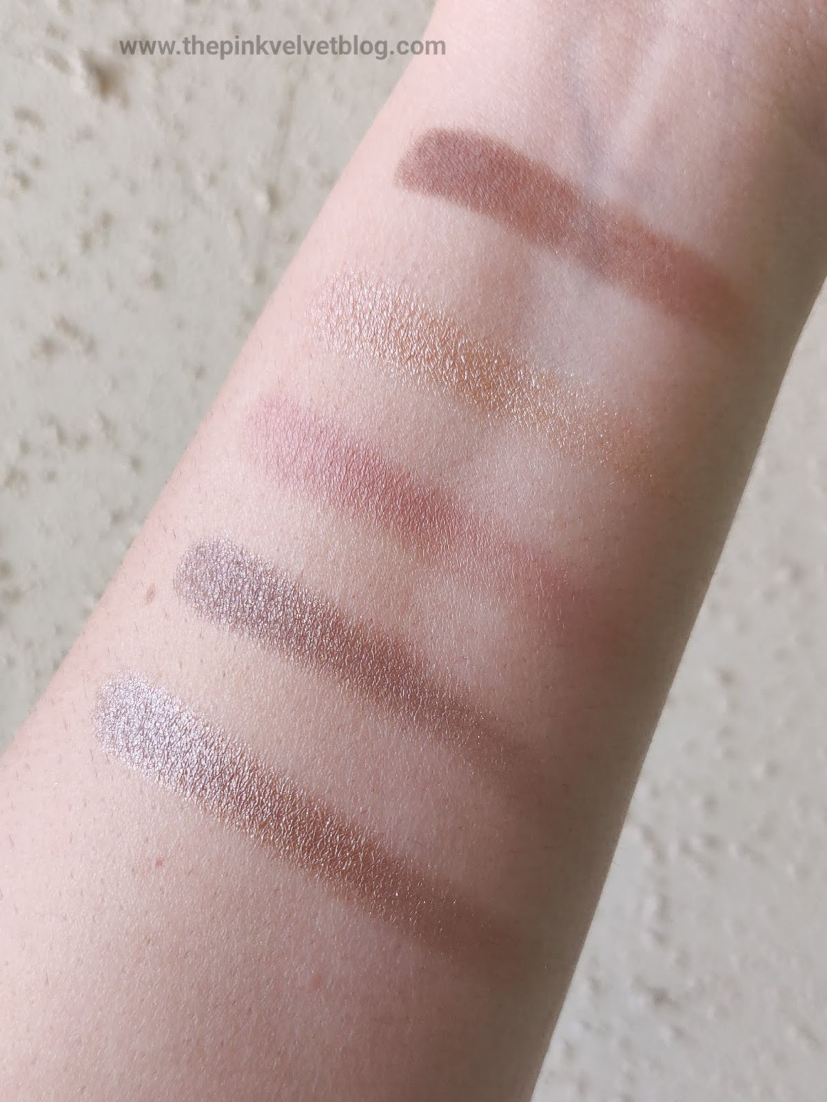 Top 5 Eyeshadow Palettes in India under Rs.1000/- and their Swatches - Maybelline City Mini Chill Brunch Neutrals