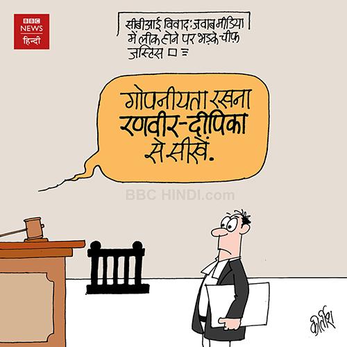 indian political cartoon, cartoons on politics, cartoonist kirtish bhatt, indian political cartoonist, CBI, bollywood cartoon