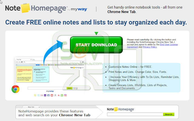 Note Homepage Toolbar