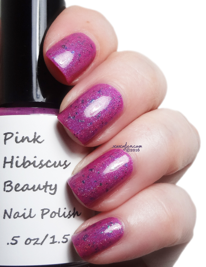 xoxoJen's swatch of Pink Hibiscus Alien