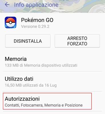 info applicazione