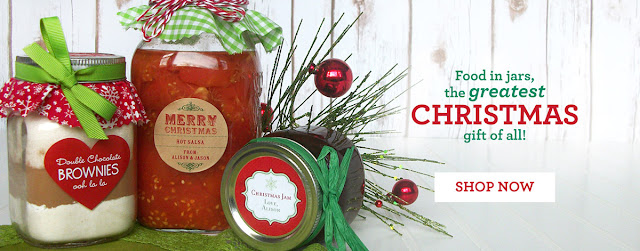 christmas canning jar labels