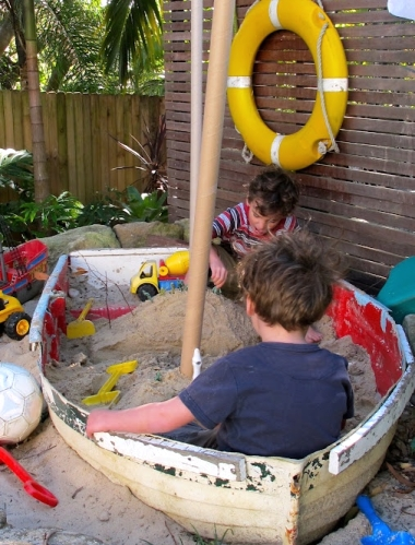 boat sandbox for kids