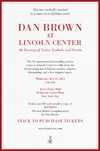 Dan Brown at Lincoln Center