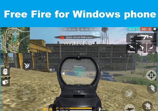 descargar garena free fire para windows phone