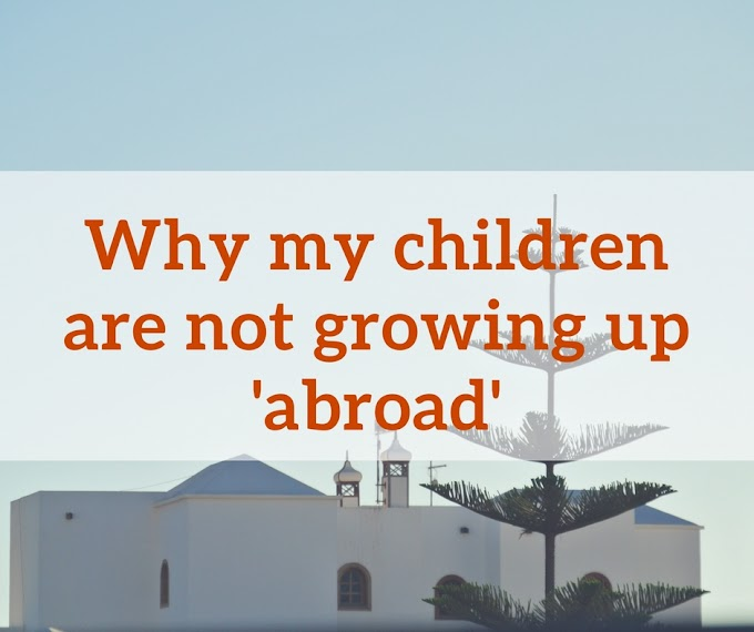 Why my children are not growing up abroad