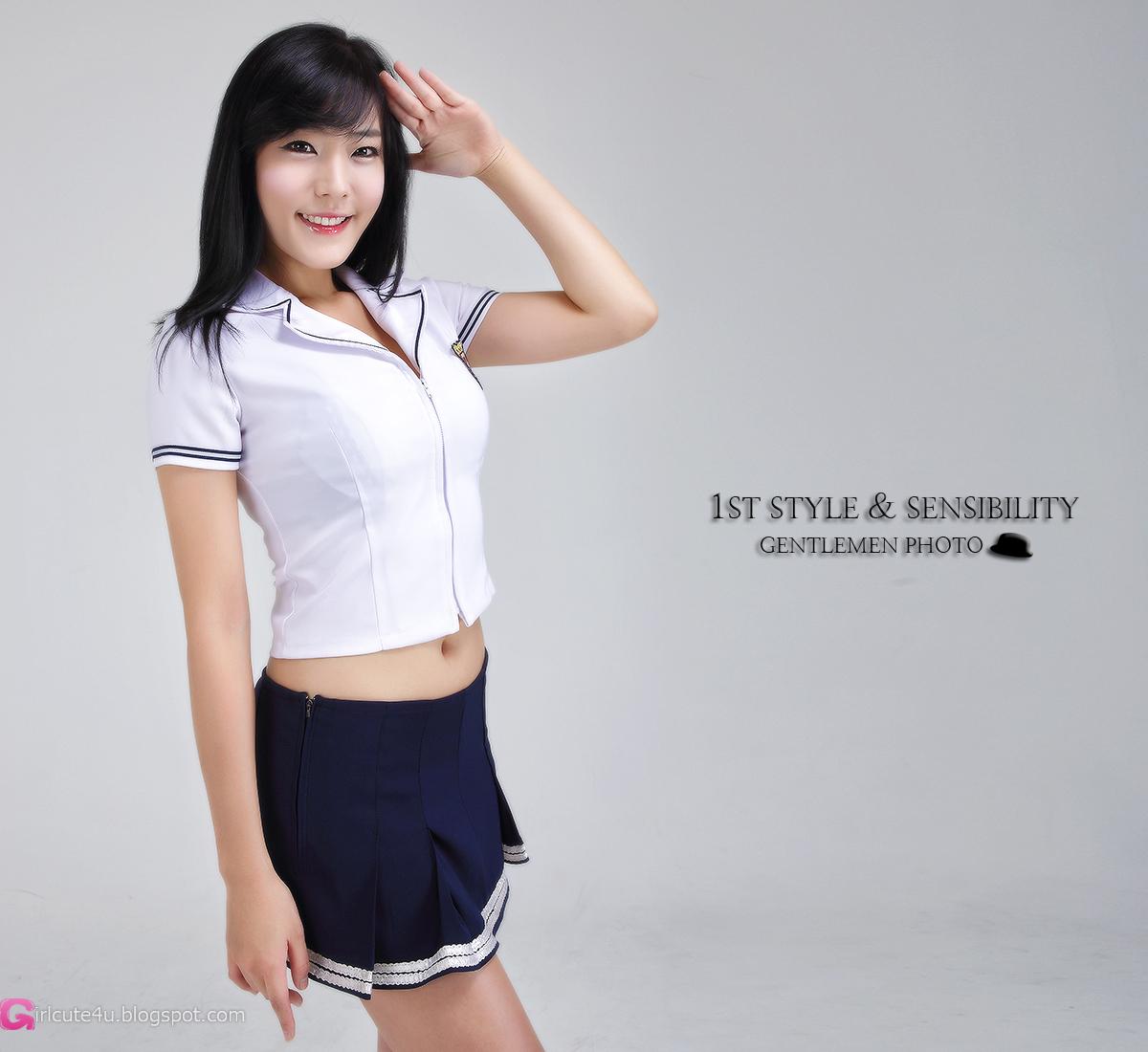 Cute Asian Girl School Girl Yook Ji Hye-1499