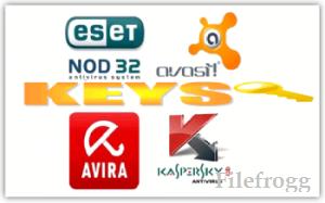 Keys ESET NOD32 Kaspersky Avast Dr.Web Avira