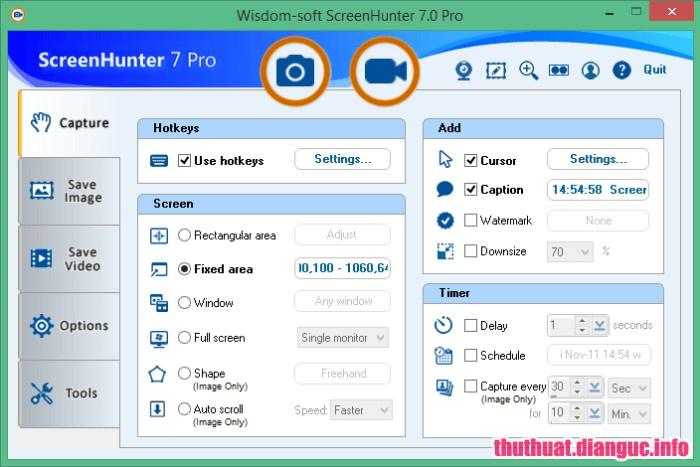 Download ScreenHunter Pro 7.0.977 Full Cr@ck – Phần mềm quay video màn hình chuyên nghiệp