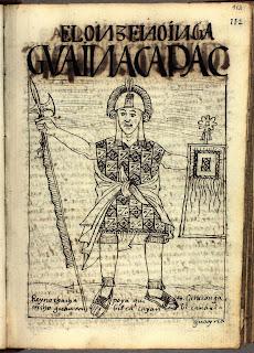 Huayna Cápac, dibujo de Felipe Guamán Poma de Ayala