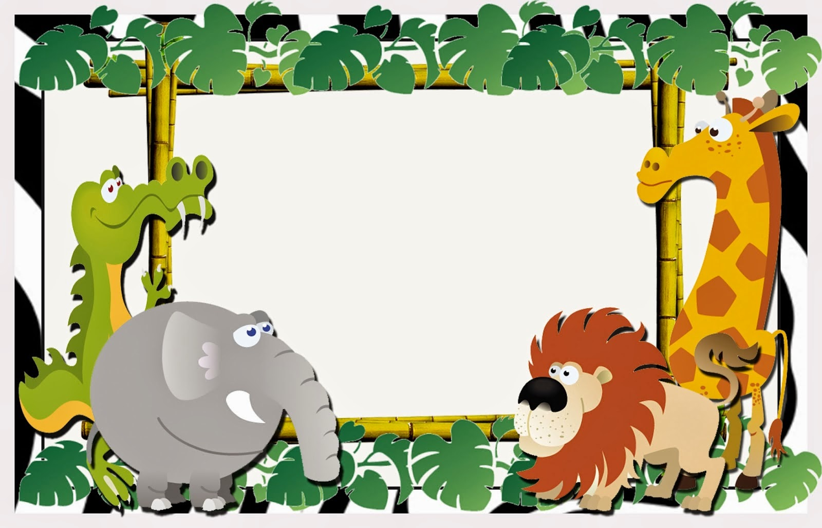 Cute The Jungle Free Printable Invitations Labels Or Cards