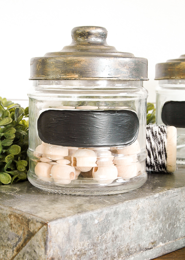 DIY Dollar Tree industrial storage jars