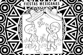 Mandala de las fiestas mexicanas para niños