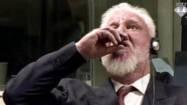 Bosnian Croat wartime general Slobodan Praljak kills himself with poison in UN court
