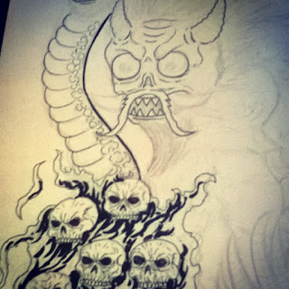 japanese demon drawing