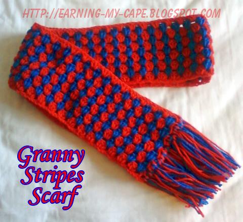 Crochet, Crochet Scarf, Free Crochet Pattern, granny stripes, Granny Stripes Scarf, Granny Stripes Scarf Pattern
