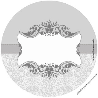 Silver Arabesques: Free Printable Wrappers and Toppers.