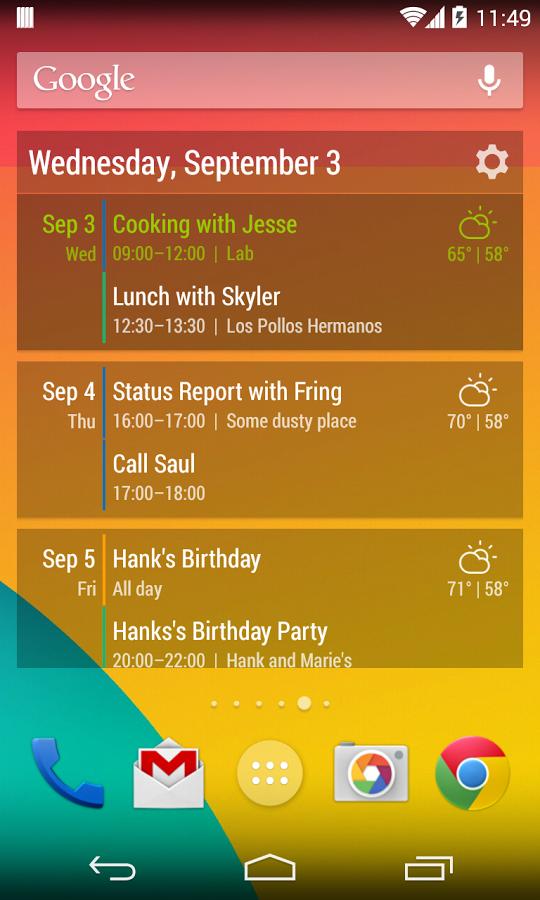 YoAndroideo.com: Event Flow, un muy buen calendario para nuestros escritorios
