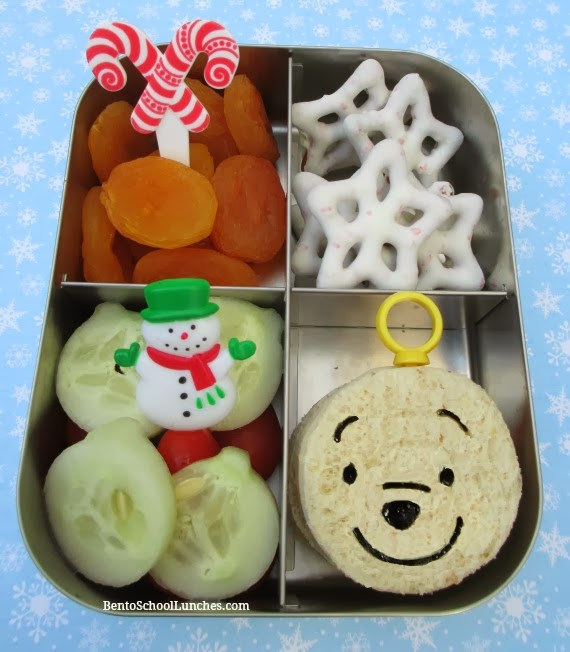 Disney Pooh ornament Christmas bento school lunch