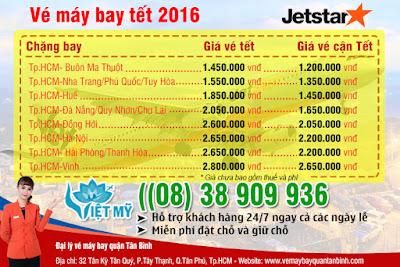 Vé máy bay Tết 2017 đi Đà Nẵng hãng Jetstar