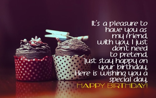 Close Friend Birthday Wishes Quotes : Greeting birthday wishes for a special friend this