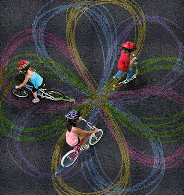 chalk-art-with-bike-kids-activities-summer
